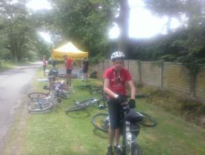My son Vini during the Wokngham Bikeathon 2014