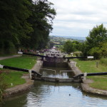 Caen Hill Locks. View from the top.