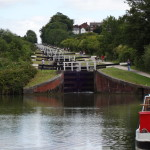 Caen Hill Locks, view from the bottom.
