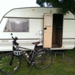 Small Caravan in the Bruce Arms, my home for the night.