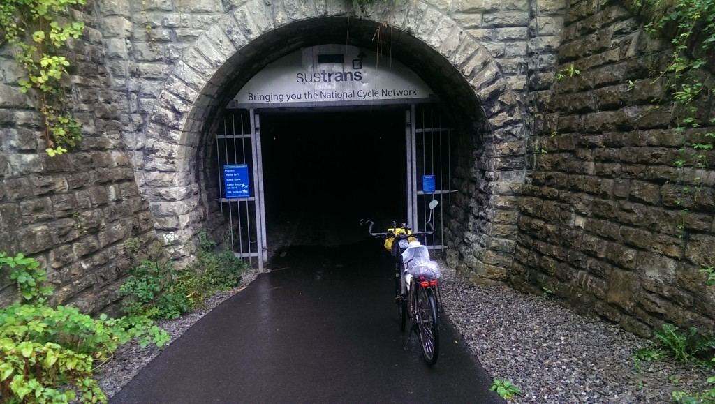 At the entrance to the Devonshire tunnel