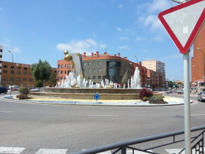 Water Fountain at the entrance to Burgos