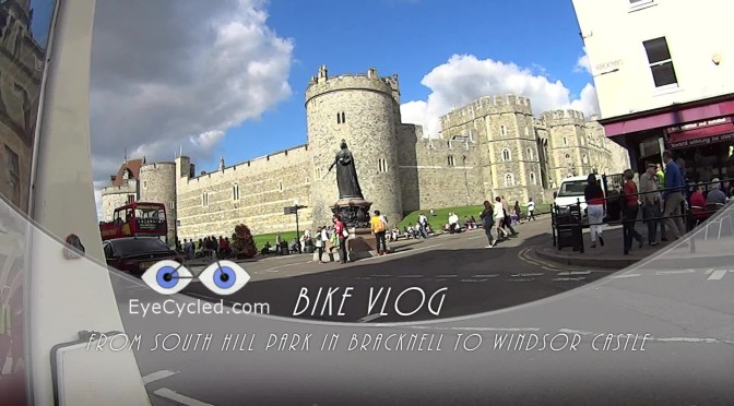 EyeCycled Bike Vlog - From the South Hill Park in Bracknell to Windsor Castle and back
