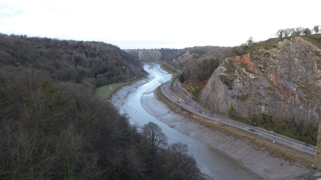 View to the left of the Clifton Bridge