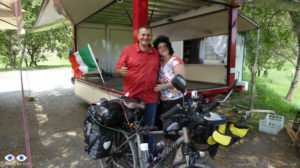 This couple gave me an Italian Flag