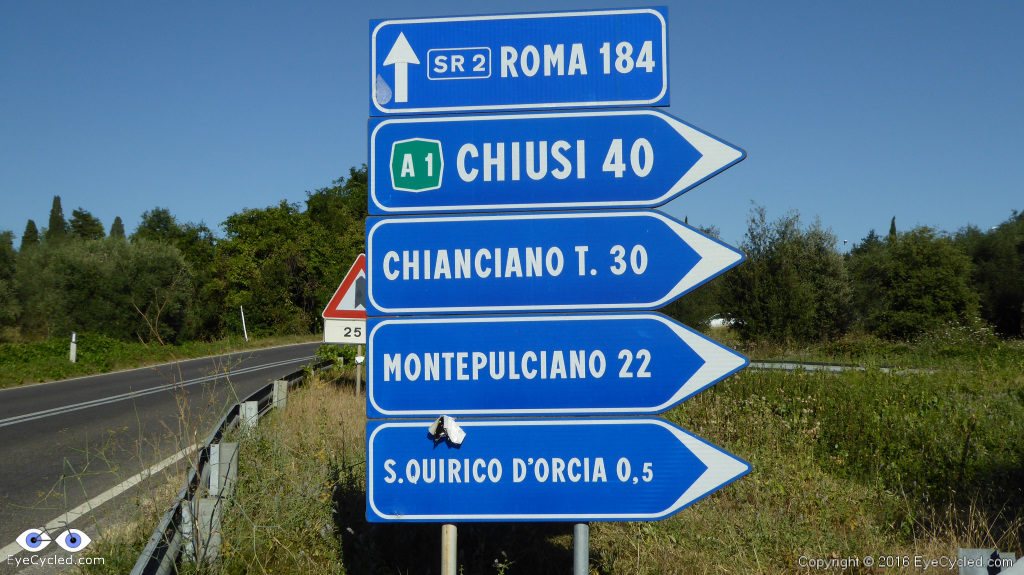 184 Km to Rome according to the sign.